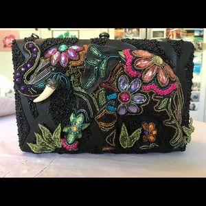 """Mary Frances Black """"Elephant Flowers"""" Shoulder Bag"""